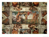 The Sistine Chapel: The Fall Giclee Print by Michelangelo Buonarroti
