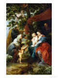 The Holy Family Resting Under an Apple-Tree Impression giclée par Peter Paul Rubens