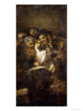 Readin, Also Called The Politicians, A Painting from the Quinta Del Sordo, Goya's House, 1819-1923 Giclee Print by Francisco de Goya