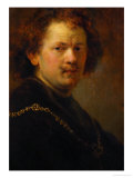 Self-Portrait with Bare Head, 1633 Giclee Print by  Rembrandt van Rijn