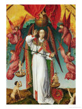 The Last Judgement, Detail of the Archangel Michael, 1434 Giclee Print by Rogier van der Weyden
