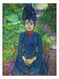 Justine Dieuhl, 1891 Giclee Print by Henri de Toulouse-Lautrec