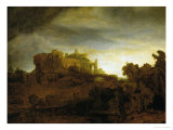 Castle at Twilight, 1640 Giclee Print by  Rembrandt van Rijn