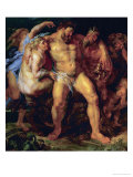 Hercules, Drunk, Led by a Nymph and a Satyr, circa 1612-14 Giclee Print by Peter Paul Rubens
