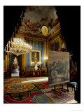 The Royal Palace in Madrid: Ante-Room by Gasparini with Goya's Portrait of King Charles IV Giclee Print