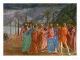 The Tribute Money, 1415-1428 Giclée-tryk af Masaccio,