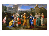 Eliezer and Rebecca Lmina gicle por Nicolas Poussin