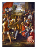 Christ Falls on the Way to Calvary Reproduction procédé giclée par Raphael