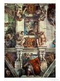The Sistine Chapel: Creation of Eve, the Prophet Ezekiel Giclee Print by Michelangelo Buonarroti 