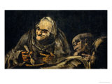 Two Old Men Eating, One of the Black Paintings from the Quinta Del Sordo, Goya's House, 1819-1823 Giclee Print by Francisco de Goya