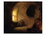 Meditating Philosopher, 1632 Giclée-tryk af Rembrandt van Rijn