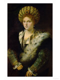 Isabella D'Este (1474-1539) Giclee Print by  Titian (Tiziano Vecelli)