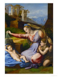 The Virgin with the Blue Coronet Reproduction proc&#233;d&#233; gicl&#233;e par Raphael 