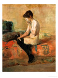Study of a Female Nude on a Couch Lámina giclée por Henri de Toulouse-Lautrec