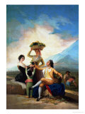 The Wine Harvest (Autumn), Cartoon for a Tapestry, 1786-1788 Giclee Print by Francisco de Goya