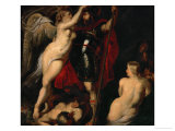 The Hero of Virtue, Mars, Crowned by the Goddess of Victory Giclee Print by Peter Paul Rubens