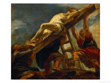 The Elevation of the Cross, Sketch for the Ceiling of the Church of the Jesuits in Antwerp Giclee Print by Peter Paul Rubens