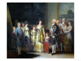 King Charles IV (1748-1819) of Spain and His Family Impression giclée par Francisco de Goya