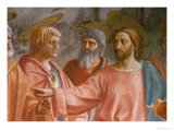 The Tribute Money Giclée-tryk af Masaccio