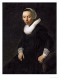 Young Woman Sitting in a Chair Giclee Print by  Rembrandt van Rijn