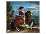Equestrian Portrait of King Philip IV (1605-1665) Gicléedruk van Diego Velázquez