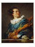 Fantastical Figure, Portrait of the Abbot of Saint-Non Reproduction procédé giclée par Jean-Honoré Fragonard