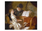 The Music Lesson Giclee Print by Jean-Honoré Fragonard