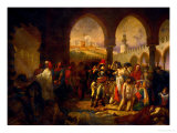 Bonaparte Visits the Plague-Ridden of Jaffa, Painted 1804 Giclee Print by Antoine-Jean Gros