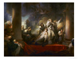 The Grand Priest Coresus Sacrifices Himself to Save Callirhoe (Pausanias, VII, 21) Giclée-Druck von Jean-Honoré Fragonard