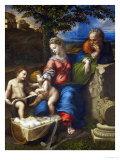The Holy Family Under an Oak Tree Reproduction procédé giclée par Raphael