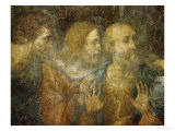 Three Apostles, Detail from Leonardo's Last Supper, 1498 Giclée-Druck von  Leonardo da Vinci