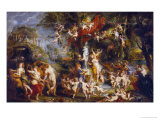 The Feast of Venus, after 1635 Giclee Print by Peter Paul Rubens