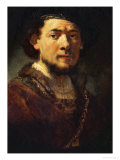 Self-Portrait with Beard, 1634/35 Giclee Print by  Rembrandt van Rijn