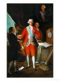 Don Jose Monino, Count Floridablanca (1728-1808), Painted Around 1783 Giclée-trykk av Francisco de Goya