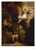 The Archangel Rapael Leaves the Family of Tobit, 1637 Giclee Print by  Rembrandt van Rijn
