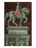 Condottiere John Hawkwood (1320-1394), Equestrian Portrait Giclee Print by Paolo Uccello