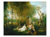 La Fete D'Amour, 1717 Giclee Print by Jean Antoine Watteau