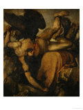 Prometheus, 1547-1548 Gicle-tryk af Titian (Tiziano Vecelli)