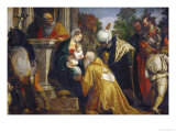 Adoration of the Three Magi Giclée-Druck von Paolo Veronese