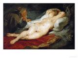 The Hermit and Sleeping Angelica Giclée-Druck von Peter Paul Rubens