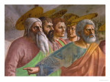 The Tribute Money, Detail of Four Apostles and St. Peter Giclee Print by  Masaccio