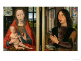Madonna and Child with Donor, Diptych of Maarten Van Nieuwenhove, 1487 Giclee Print by Hans Memling