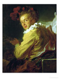 Music, Portrait De Monsieur De La Breteche, Brother of the Abbe Saint-Non Giclee Print by Jean-Honoré Fragonard