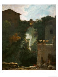 Waterfalls at Tivoli Stampa giclée di Jean-Honoré Fragonard