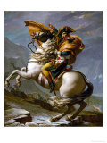 Bonaparte Crossing the Great Saint Bernard Pass, 1801 Reproduction procédé giclée par Jacques-Louis David
