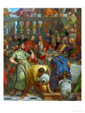 The Wedding at Cana, Servants Pouring the Water, Miraculously Changed into Wine Giclee Print by Paolo Veronese