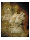 The Apostle Simon, Detail from Leonardo's Last Supper, 1498 Giclée-Druck von  Leonardo da Vinci