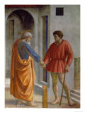 Saint Peter Hands the Tribute to the Tax Collector Giclee Print by  Masaccio