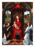 Madonna and Child, Angel with Violin in His Hand; Landscape with Farmhouse and Castle Giclee Print by Hans Memling