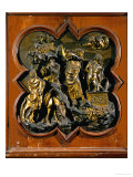 Abraham's Sacrifice of Isaac, Bronze Relief, 1401 Giclée-tryk af Lorenzo Ghiberti